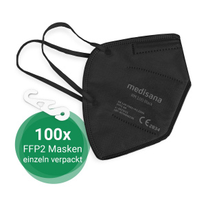 RM 100 (schwarz) für Apotheken, Einrichtungen und Unternehmen | 100x FFP2 Atemschutzmaske
